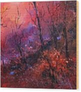 Unset In The Wood Wood Print