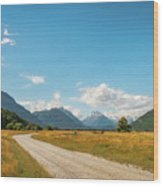 Unspoiled Alpine Scenery From Kinloch-glenorchy Road, Nz Wood Print