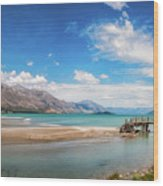 Unspoiled Alpine Scenery In Kinloch Wharf, New Zealand Wood Print