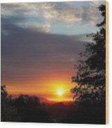 Until We Meet Again- Oregon Sunset Wood Print