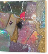 Untitled Abstract Prism Plates II Wood Print
