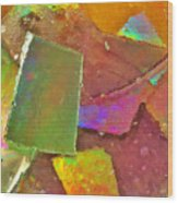 Untitled Abstract Prism Plates IIi Wood Print