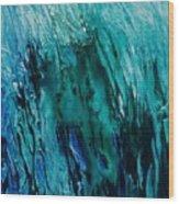 Untitled Blue Wood Print