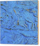 Untitled-weathered Wood Design In Blue Wood Print