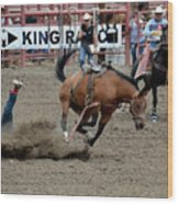 Bronco Rider Four Wood Print