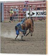 Bronco Rider Three Wood Print