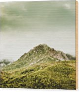 Untouched Mountain Wilderness Wood Print