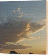 Unusual Cloud At Sunset Wood Print