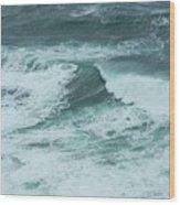 Unusual Green Wave Vertical Wood Print