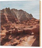 Unusual Rock Formations At Kodachrome Park, Utah Wood Print