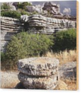 Unusual Rock Formations In The El Torcal Mountains Near Antequera Spain Wood Print