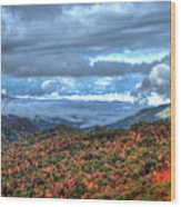 Up In The Clouds Blue Ridge Parkway Mountain Art Wood Print