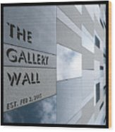 Up The Wall-the Gallery Wall Logo Wood Print
