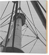 Up Whitefish Point Gryascale Wood Print
