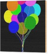 Upbeat Balloons Wood Print