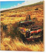 Upcountry Wreck Wood Print