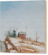 Uphill Wood Print