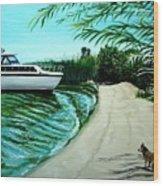 Upon Ashore Wood Print