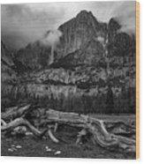 Upper And Lower Yosemite Falls Wood Print