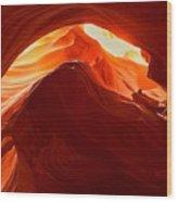 Upper Antelope Sunlit Layers Wood Print