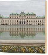 Upper Belvedere And Its Reflection  Wood Print