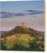 Upper Church With Two Towers In Banska Stiavnica, Slovakia Wood Print