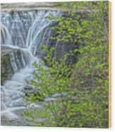 Upper Falls At Mine Kill State Park Wood Print