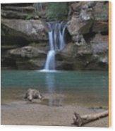 Upper Falls In Hocking Hills Wood Print