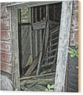 Upper Hoist Doorway Wood Print