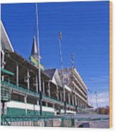 Upper Level Viewing Stands At Churchill Downs Wood Print