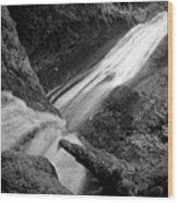 Upper Madison Creek Falls Three Wood Print