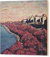 Upper Manhattan Along The Hudson River Wood Print