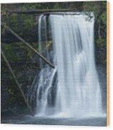 Upper North Falls Wood Print