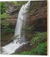 Upper Piney Falls Wood Print