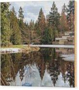 Upper Pond Reflections Wood Print