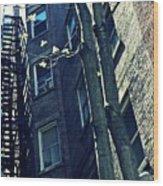 Upper West Side Apartment Building Wood Print by Sarah Loft