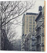 Upper West Side Winter Wood Print