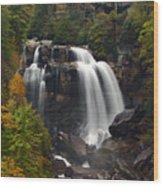 Upper Whitewater Falls - Nc Wood Print