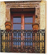 Upper Window Tlaquepaque Wood Print