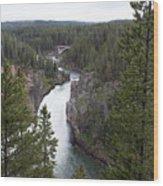 Upper Yellowstone Falls Wood Print