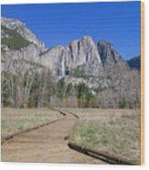 Upper Yosemite Fall And The Trail Wood Print