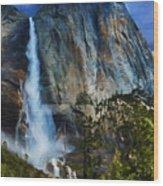 Upper Yosemite Falls Wood Print