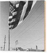 Upraised Flag Support Mlk Day March Tucson Arizona 1991 Wood Print