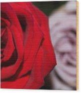 Upstaged Rose Wood Print