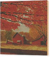 Upstate Autumn Wood Print