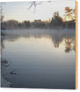 Upstream Mississippi River After Ice Out Wood Print