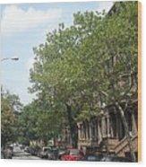 Uptown Ny Street Wood Print