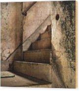 Uptown Stairs Wood Print