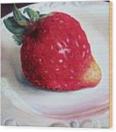 Uptown Strawberry Girl Wood Print