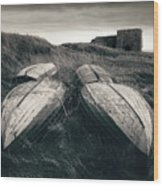 Upturned Boats Wood Print